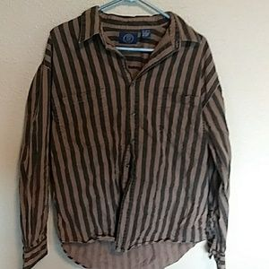 Vintage gap striped button down